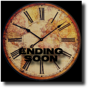 HUNT SL Clock Graphic Ending Soon