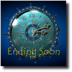 Ending Soon - Blue Clock