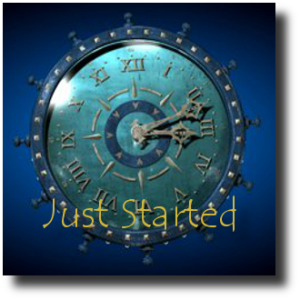Just Started - Blue Clock