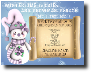 HUNT SL winter goodies and snowman search
