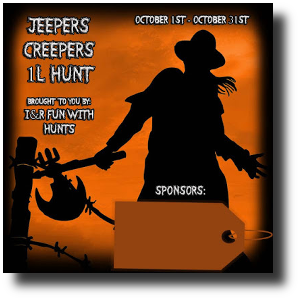 Jeepers Creepers Hunt Sign Template