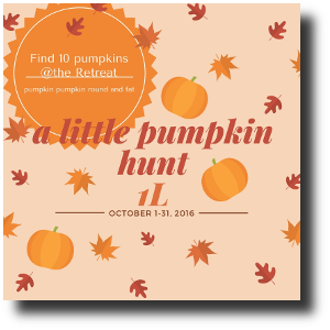 a little pumpkinhunt